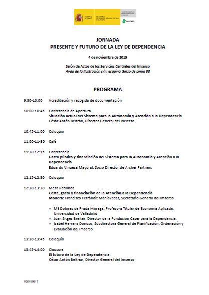 Jornada sobre la Ley de Dependencia IMSERSO